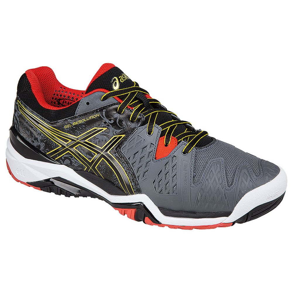asics gel resolution tennis orange grey