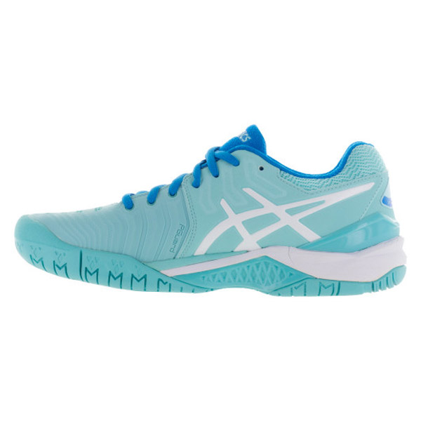 asics gel resolution 7 s tennis shoes aqua splash