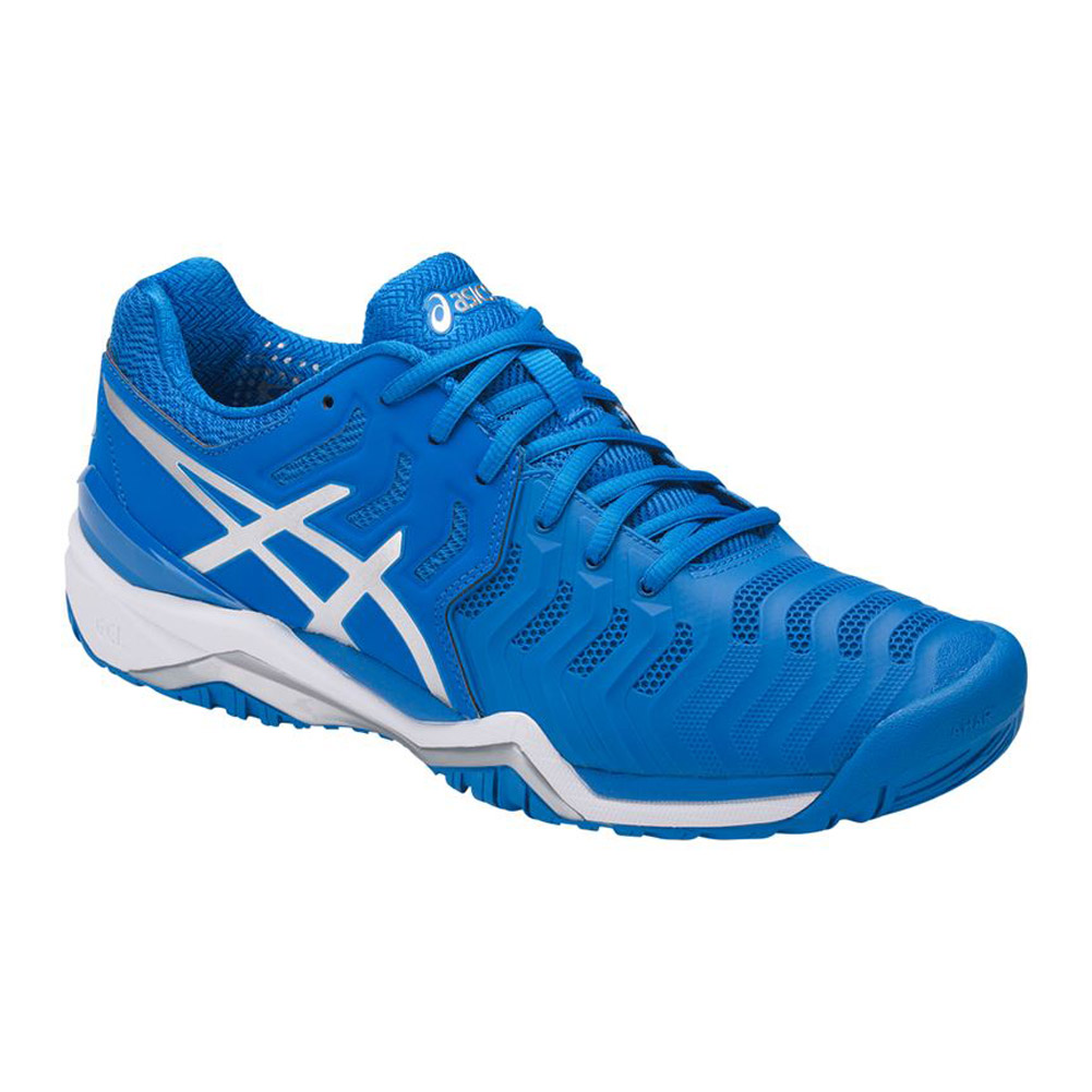 20e78a4a Asics Gel Resolution 7 Men's Tennis Shoes (Blue/Silver/White)