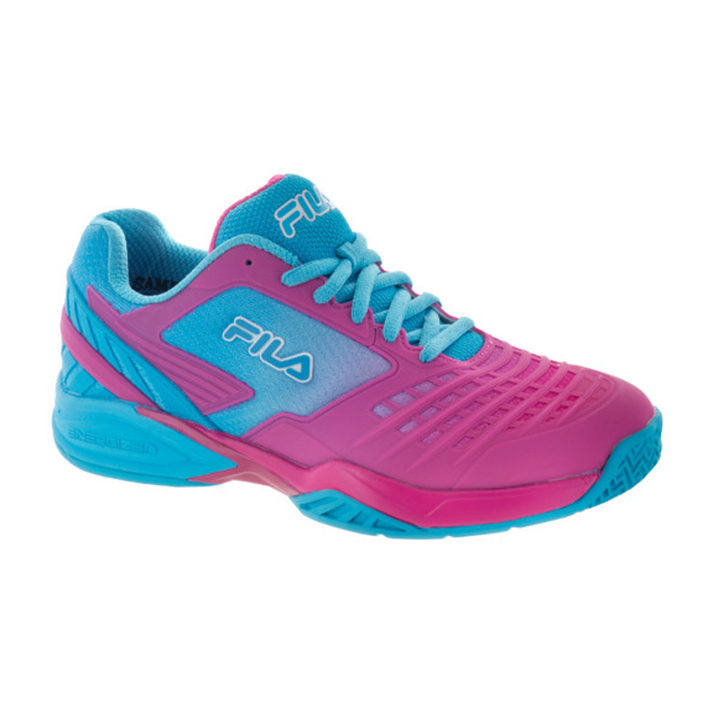 Babolat Tennis Shoes >> Fila Axilus Energized Women's Tennis Shoes (Raspberry/Blue) - RacquetDepot