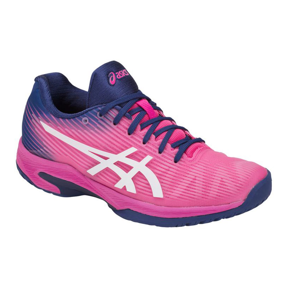 Asics Gel Solution Speed FF (Pink Glo/White) Women's Tennis Shoes