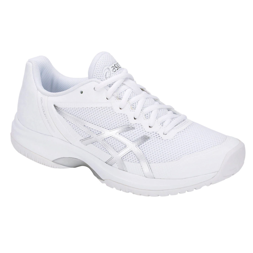 414a9b440 Asics Gel Court Speed (White/Silver) Women's Tennis Shoes