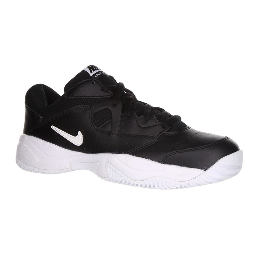 Nike Court Lite 2 Black White Mens Tennis Shoes